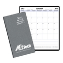 Custom SMB-15 Academic Monthly Planners, Frosted Vinyl Academic Monthly Pocket, 3 1/2 x 6 1/2 inch, Saddle-Stitched
