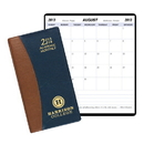 Custom SMB-17 Academic Monthly Planners, Carriage Vinyl Academic Monthly Pocket, 3 1/2 x 6 1/2 inch, Saddle-Stitched