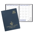 Custom SMB-33 Academic Monthly Planners, Continental Vinyl Academic Monthly Desk, 8 1/2 x 11 inch, Wire-Bound