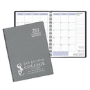 Custom SMB-35 Academic Monthly Planners, Frosted Vinyl Academic Monthly Desk, 8 1/2 x 11 inch, Wire-Bound