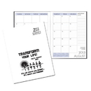 Custom SMB-3E Academic Monthly Planners, White Economy Academic Monthly Desk, 8 1/2 x 11 inch, Saddle-Stitched