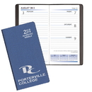 Custom SWB-15 Academic Weekly Planners, Frosted Vinyl Academic Weekly Pocket, 3 1/2 x 6 1/2 inch, Smyth Sewn