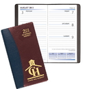 Custom SWB-17 Academic Weekly Planners, Carriage Vinyl Academic Weekly Pocket, 3 1/2 x 6 1/2 inch, Smyth Sewn