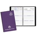 Custom SWB-25 Academic Weekly Planners, Frosted Vinyl Academic Weekly Desk, 5 1/2 x 8 1/2 inch, Wire-Bound