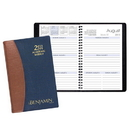 Custom SWB-27 Academic Weekly Planners, Carriage Vinyl Academic Weekly Desk, 5 1/2 x 8 1/2 inch, Wire-Bound