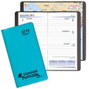 Custom WB-10 Weekly Pocket Planners, Technocolor Covers, 3 1/2 x 6 1/2 inch, Smyth Sewn
