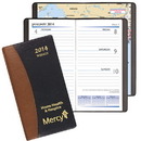Custom WB-17 Weekly Pocket Planners, Carriage Vinyl Covers, 3 1/2 x 6 1/2 inch, Smyth Sewn