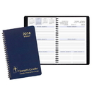 Custom WB-21 Weekly Planners, Leatherette Covers, 5 1/2 x 8 1/2 inch, Wire-Bound