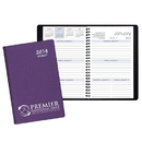 Custom WB-25 Weekly Planners, Frosted Vinyl Covers, 5 1/2 x 8 1/2 inch, Wire-Bound