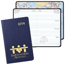 Custom WB-41 Mini Weekly Pocket Planner, Leatherette Covers, 2 3/4 x 4 1/8 inch, Smyth Sewn