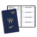 Custom WBL-21 Weekly Planners, Leatherette Covers, 5 1/2 x 8 1/2 inch, Wire-Bound
