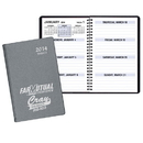 Custom WBL-25 Weekly Planners, Frosted Vinyl Covers, 5 1/2 x 8 1/2 inch, Wire-Bound