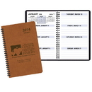 Custom WBL-28 Weekly Planners, Canyon Covers, 5 1/2 x 8 1/2 inch, Wire-Bound