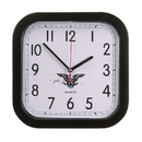 STOPNGO Line Custom Black Rounded Square Wall Clock, 9 1/4