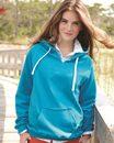 J. America 8836 Ladies' Sydney Brushed V-Neck Hooded Sweatshirt
