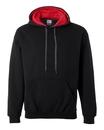 Gildan 185C00 Heavy Blend Hooded Sweatshirt with Contrast-Color Lining
