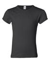 Bella 9001 Girls' Baby Rib Short Sleeve Crewneck T-Shirt