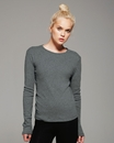 Bella 5001 Ladies' Baby Rib Long Sleeve T-Shirt