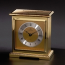 Interlude Brass Clock With A Glass Front Panel