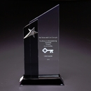 Stratus Glass Award With A Gleaming Silver Star