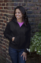 Women's Premium Midweight Fleece Full-Zip Hoodie - Imprinted