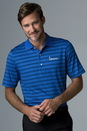 Greg Norman Play Dry Aerated Weatherknit Stripe Polo - Imprinted