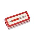 Custom VP6282S-BK Black Executive Ball Pen in Curved Wooden Gift Box, 6-7/8