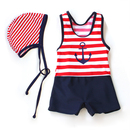 Toddler Boys' Swimsuit, Cute Sailor, One-Piece Swimwear