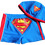 TopTie Toddler Boys' Swimming Trunk, Superman Swim Shorts with Cap