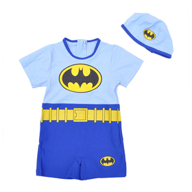 TopTie Toddler Boys' Swimsuit /Bath Suit / Costume, Batman Design, One-Piece Swimwear