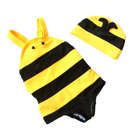 TopTie Toddler Boys' Swimsuit /Bath Suit, Cute Bee Design, One-Piece Swimwear