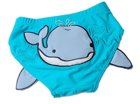 TopTie Toddler Boys' Swimming Trunk, Blue Whale