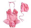 TopTie Toddler Girls' Swimsuit, Ballerina Skirt Design, One-Piece Swimwear