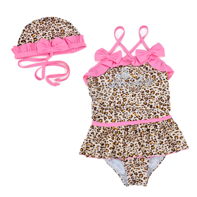 TopTie Toddler Girls' Swimsuit, Leopard Animal Print, One-Piece Swimwear