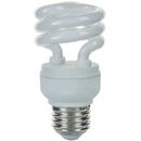 Sunlite 00639-SU SMS9/41K 9 Watt Super Mini Spiral Energy Saving Light Bulb, Medium Base, Cool White