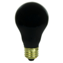 Sunlite 01096-SU 75 Watt A19 Black Light Light Bulb, Medium Base, Ceramic