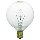 Sunlite 01650-SU 25 Watt G16.5 Globe Light Bulb, Candelabra Base, Clear