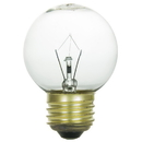 Sunlite 01690-SU 25 Watt G16 Globe Light Bulb, Medium Base, Clear
