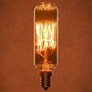 Sunlite 02031-SU 60 Watt Antique Radio Style T8 Light Bulb, Candelabra Base, Smoke