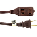 Sunlite 04105-SU Ex9/Br Household 9-Feet Extension Cord, Brown