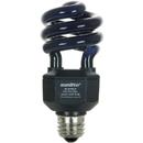Sunlite 05439-SU SL20/BLB 20 Watt Black Light Spiral Energy Saving Light Bulb, Medium Base, Black Light Blue