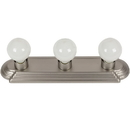 Sunlite 45000-SU 3 Lamp Vanity Globe Style Fixture, Brushed Nickel Finish