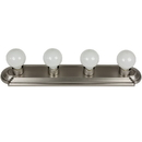 Sunlite 45100-SU 4 Lamp Vanity Globe Style Fixture, Brushed Nickel Finish