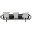 Sunlite 45420-SU 3 Lamp Vanity Decorative Sconce Fixture, Chrome  Finish, White Lens