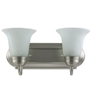 Sunlite 45430-SU 2 Lamp Vanity Decorative Sconce Fixture, Brushed Nickel Finish, Alabaster Glass