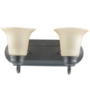Sunlite 45491-SU 2 Lamp Vanity Decorative Sconce Fixture, Dusted Brown Finish, Tea Stained Glass