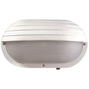 Sunlite 47210-SU Decorative Outdoor Eurostyle Oblong Hooded Fixture, White Finish, Frosted Lens