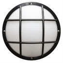 Sunlite 47212-SU Decorative Outdoor Eurostyle Grid Fixture, Black Finish, Frosted Lens