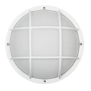 Sunlite 47214-SU Decorative Outdoor Eurostyle Grid Fixture, White Finish, Frosted Lens