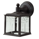Sunlite 47220-SU Decorative Outdoor Orchid Down Fixture, Black Finish, Clear Lens